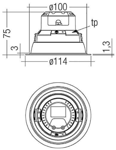DLA-G1-100mm-1000lm-R-SH-SNC